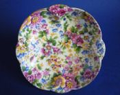 Lovely Vintage Royal Winton 'Cheadle' Chintz Round Dish c1951